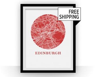 Edinburgh Map Print - City Map Poster