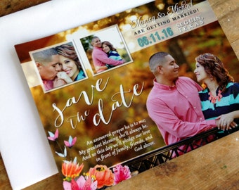 Custom Save the Date Photo Magnet