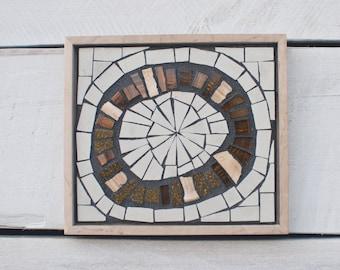 Mosaic Wall Art, Small Wall Art, Original Artwork, Circle Art