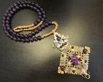 Byzantine Necklace, Etruscan Necklace, Byzantine Jewelry, Etruscan Jewelry, Amethyst Necklace, Pirate Treasure by Josephine's Cotillion