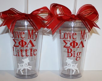 Sigma Phi Lambda - Love My Big...OR...Love My Little Sorority Tumbler - Personalized