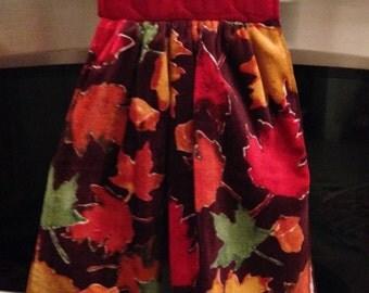 Fall Leaf Hanging Kitchen Towel