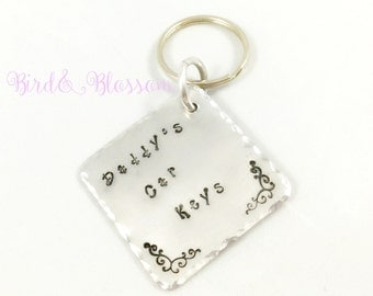 Daddy's Keys handstamped keyring | Dads Keys Keychain | Gift For Dad | Fathers Day | Hand Stamped | Handmade | Gift For Him