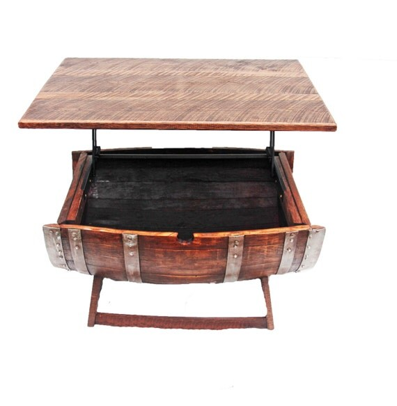 Wine Barrel Coffee Table/ coffee table/Home decor/ Indoor