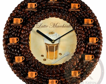 "Coffee Wall Clocks ""Latte Macchiato"""