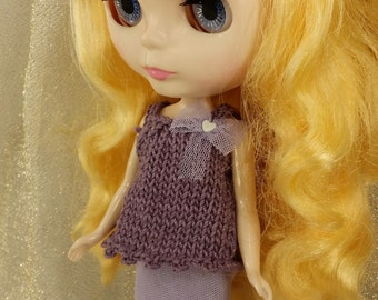 blythe knit top and skirt,