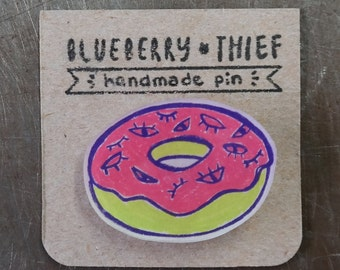 Donut with Eye Sprinkles Pin