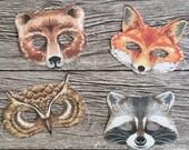 Children's Woodland Creatures Party Masks