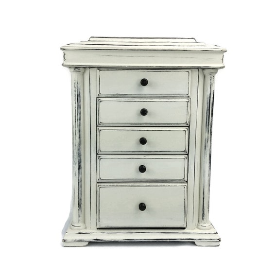 large jewelry box free shipping jewelry armoire white. Black Bedroom Furniture Sets. Home Design Ideas