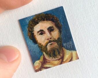 Mini Marcus Aurelius Portrait Painting, Framed