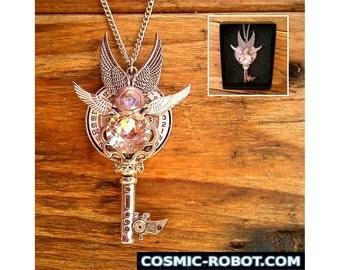 Steampunk Pendant Necklace, Keyblade pendant, handmade jewellery, steampunk jewelry, steampunk jewellery, steam punk jewelry, geek weddings.