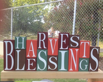 Harvest Blessings block set