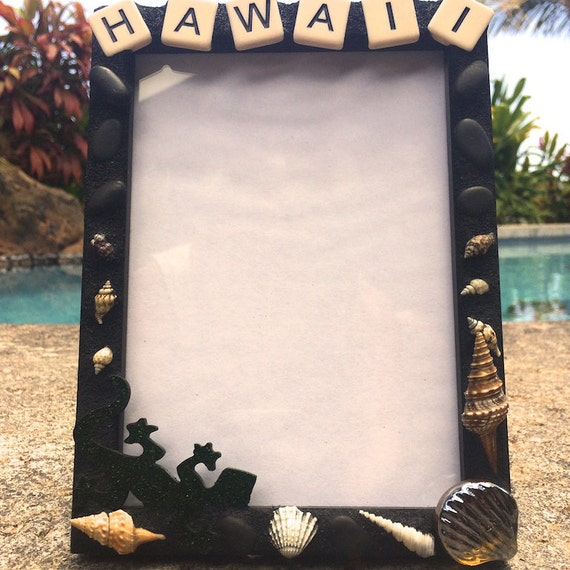 Hawaii Mosaic Frame Stained Glass Mixed Media Unique Made in Hawaii Deesigns by Harris©