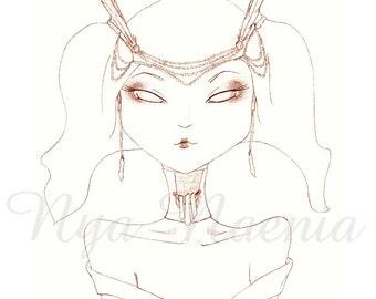 New Age Geisha 5x7 Lustre Art Print