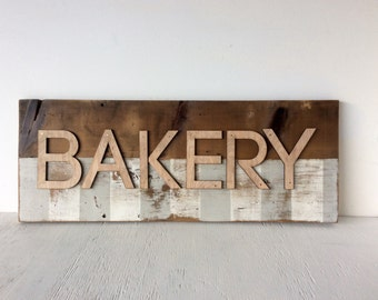 Bakery Barn Wood Wall Sign