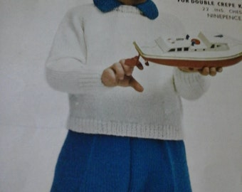 vintage boys outfit pattern