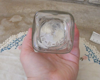 Vintage Clear SQUARE Hazel Atlas Glass Canning Jar