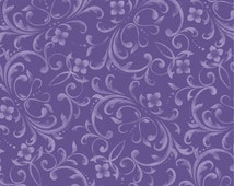 Fresh Lilacs, Maywood Studios, Beautiful Violet Scroll Blender (By 1/2 yd)