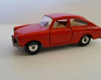 Vintage 1960's Matchbox Series No 67 Reddish Orange Volkswagen 1600 TL Made in England by Lesney
