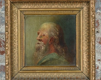 17th century Portrait of an old Patriarch -Oil Painting