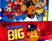 """PAW Patrol Rescue Dogs, Chase, Marshall PILLOW PANEL Fabric - L45"""" x W32"""" inches"""