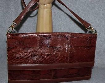 Exquisite New KORET Cobra Skin Handbag Made in Spain