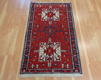 Red Persian Rug Tribal Oriental Rug 2' 5 x 4' 1 Karaja