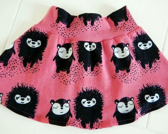 Organic-Great skirt for toddlers. Made of soft pink knit fabric. Size 80, 86, 92, 98 (GOTS certified)