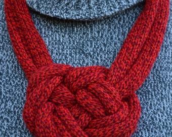 Knitted Necklace Stylish Necklace Knot Necklace