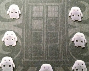 Doctor Who Adipose Buttons - sewing notions, SciFi Syfy