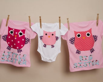 Personalised Owl onesie, owl onesie, personalised owl bodysuit, new baby gift, owl bodysuit, appliqued baby bodysuit, owls, baby clothing