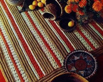 Crochet Rug in Two Sizes Vintage Crochet Pattern Download