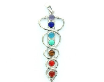 ON SALE Vintage Chakra Sword Healing Pendant