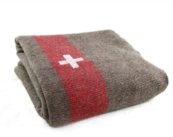 Sale best price authentic Swiss Army military Wool blanket warm