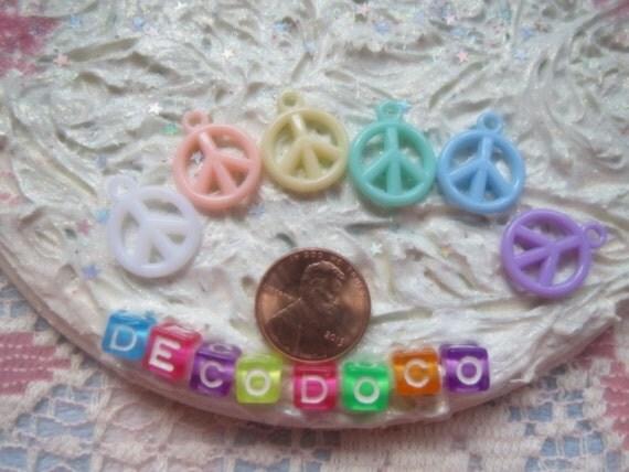 0: )- CABOCHON -( Rainbow PEACE symble