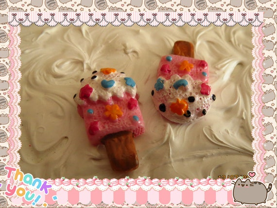 0: )- CABOCHON -( Rainbow Ice Cream Popsicles