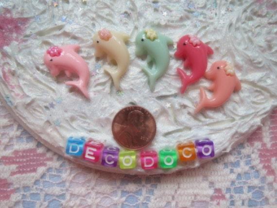 0: )- CABOCHON -( Rainbow Dolfins