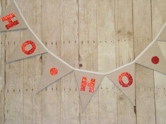 Christmas Banner - Holiday Sign - Red Sparkle - Reusable - Linen Banner - Christmas decoration - Wall Hanging - Xmas Decor - Fabric sign
