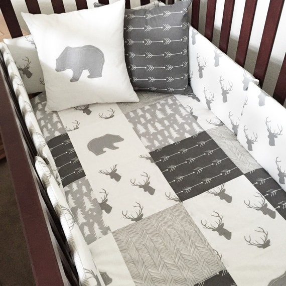 20 Beautiful Baby Boy Nursery Room Design Ideas Full Of: Woodland Blanket By SleepingLakeDesigns On Etsy