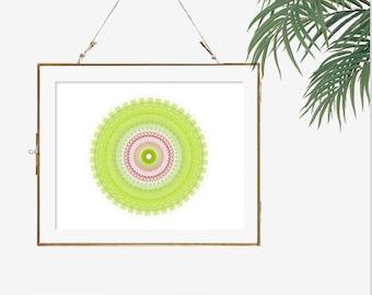 Lime Green Wall Decor bright wall decor | etsy