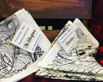Vintage Map Handkerchief Scranton or Clarks Summit/Waverly FREE SHIP!