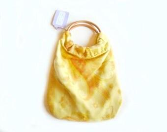 Knitting Bag - Crochet Bag - Craft Bag - Vintage Fabric Bag - Handmade Bag - Recycled - Upcycled