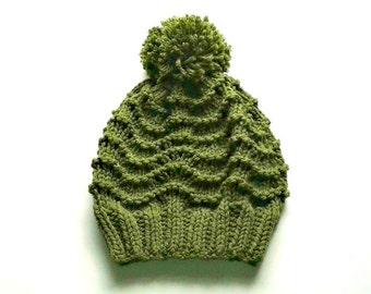Knitted Hat - Bobble Hat - Pom Pom Hat – Vegan - Hat For Women - Hat For Teen