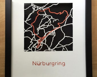 Nurburgring Race Track Map Cut Out