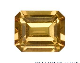 1.03 Carat Yellow Sapphire, Emerald cut Sapphire, Loose Sapphire Gemstone, Yellow Gemstone, Non Heated Real Sapphire