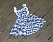 Toddler/Girls Blue Gingham Dorothy Inspired Dress