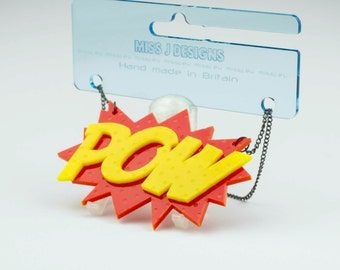 POW statement necklace