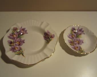 Royal Windsor, Prairie Crocus, ashtray, pin dish, bone china, Made in England