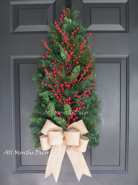 Red Berry Christmas Tree Decorations : Red berry christmas tree artificial pine wreath by