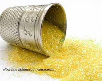 glitter - goldenrod (transparent) ultra-fine polyester